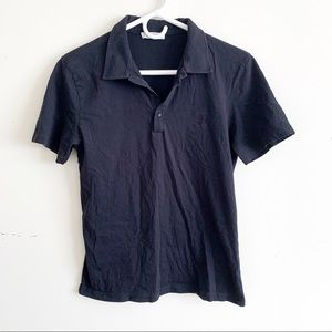 Versace Collection Short Sleeve Polo Shirt Black